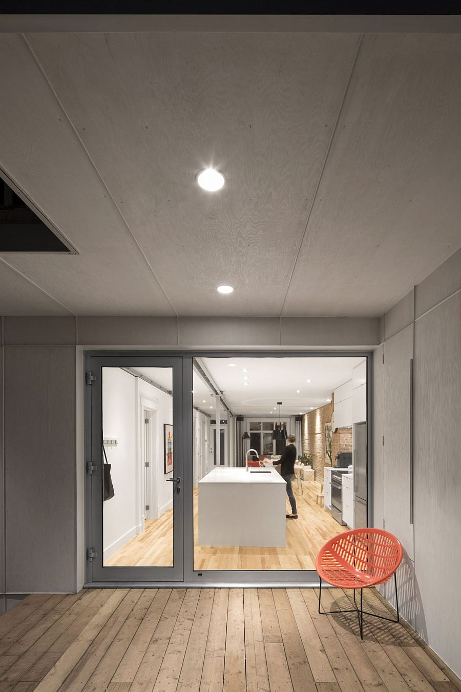 Lower level of the revamped Quebec City Residence