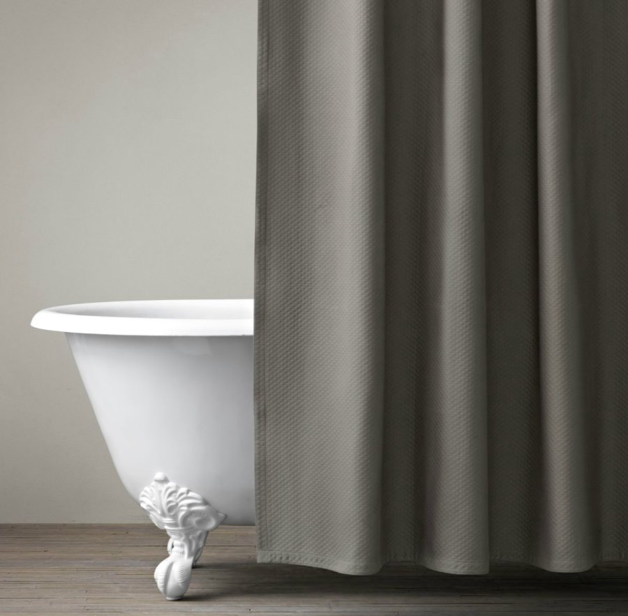 View in gallery Matelasse shower curtain from Restoration Hardware