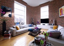 Mesmerizing use of brick walls in the contemporary living space [Design: Jennifer Ghatan / Gregory Davies Photography]