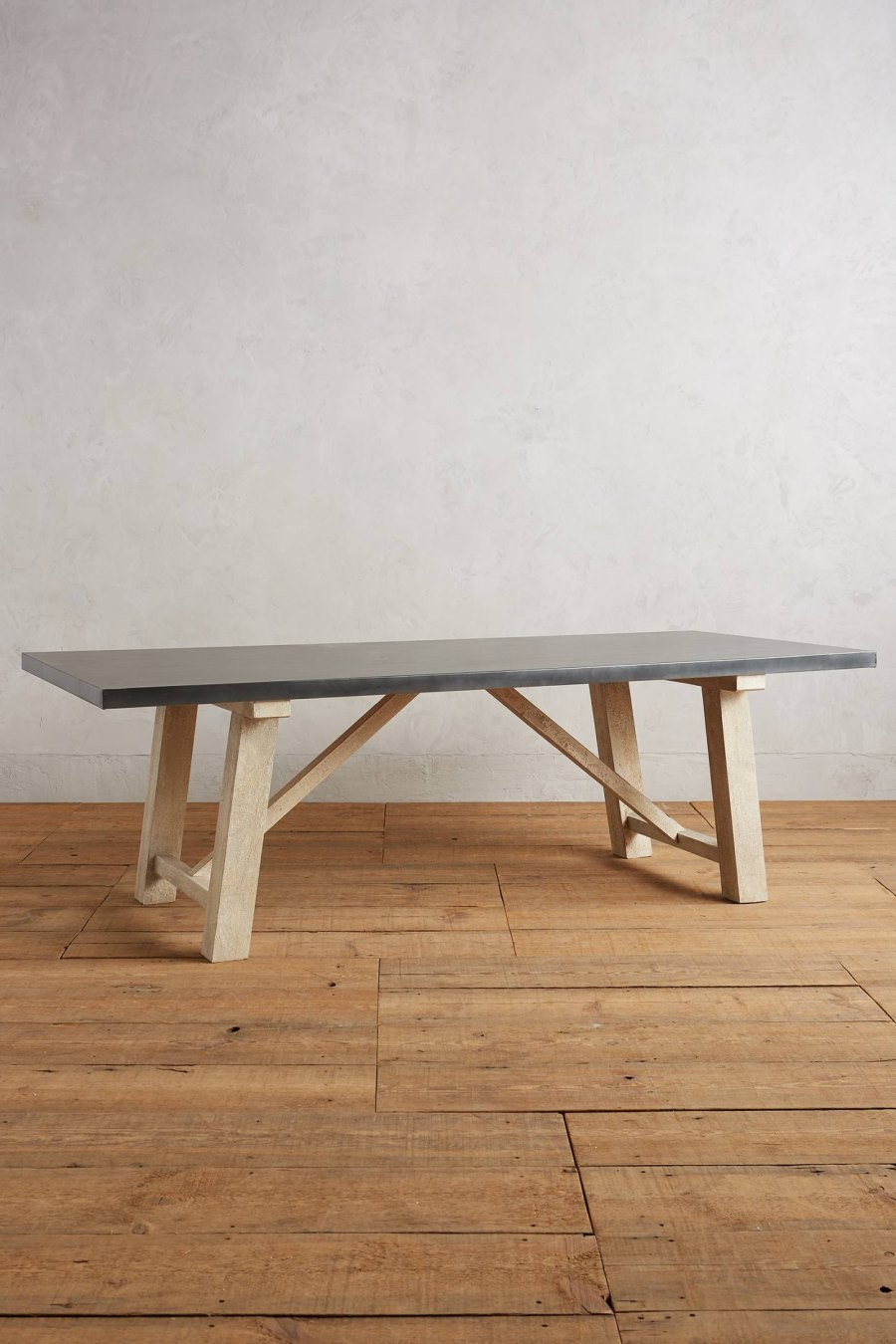 Metal and wood farmhouse table from Anthropologie