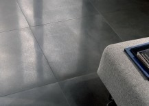 Metal effect flooring by Ceramica Fioranese 217x155 Metal Flooring, Dark Walls and Other Unexpected Touches