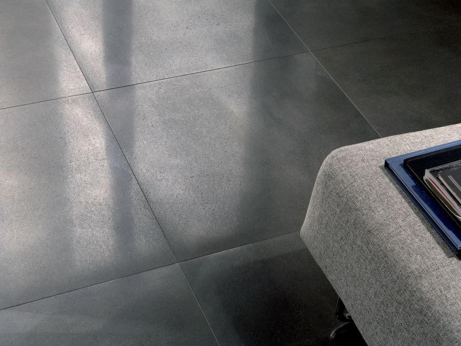 Metal-effect flooring by Ceramica Fioranese