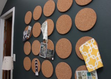 Mini round cork boards