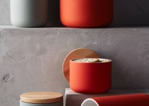 Modern canisters from Anthropologie