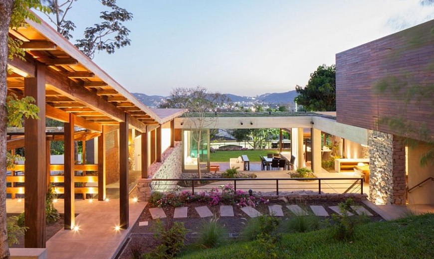 Indoor Outdoor Home Design Multi Level Garden House In El Salvador