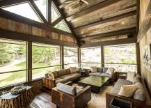 Modern rustic sunroom with ingenious decor