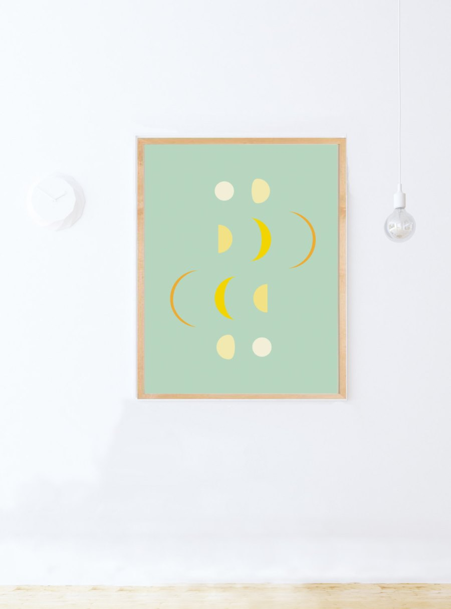 Moon phase printable poster from Etsy shop modeAprints