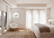 Moulding borders a recessed ceiling