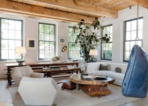 Natural-wood-and-painted-brick-walls-create-a-lovely-contrast-in-the-relaxing-living-room-217x155