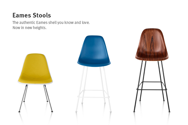 New Eames counter and bar height stools