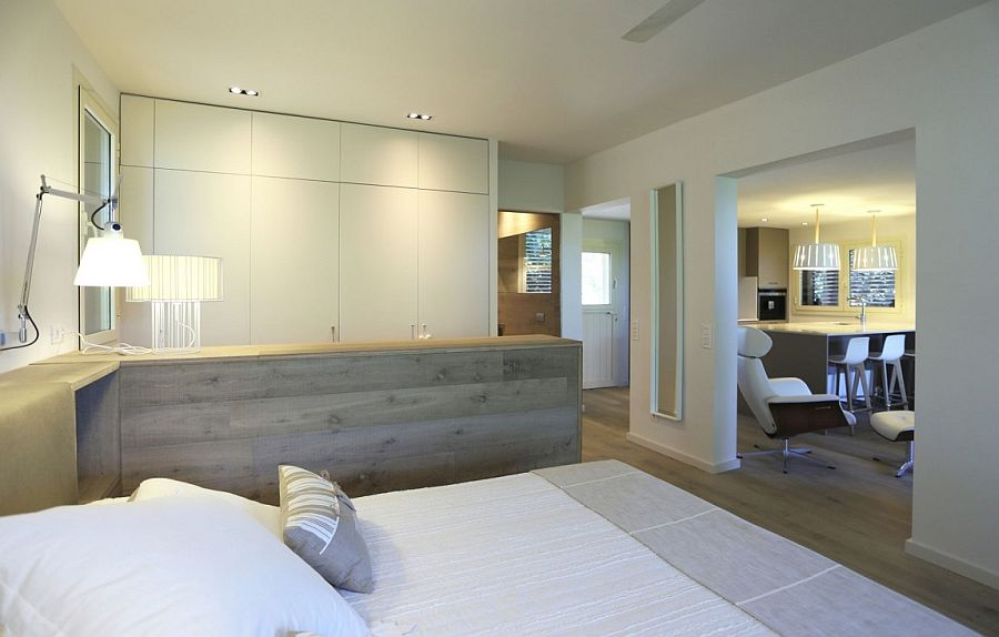 Open and classy interior of the Mountain Guest House in Barcelona