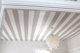 Painted striped ceiling from Skunkboy  From Halloween to Thanksgiving Dinner: Your Fall Holiday Checklist Painted striped ceiling from Skunkboy