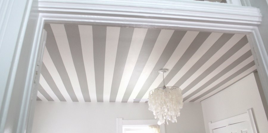 Painted striped ceiling from Skunkboy