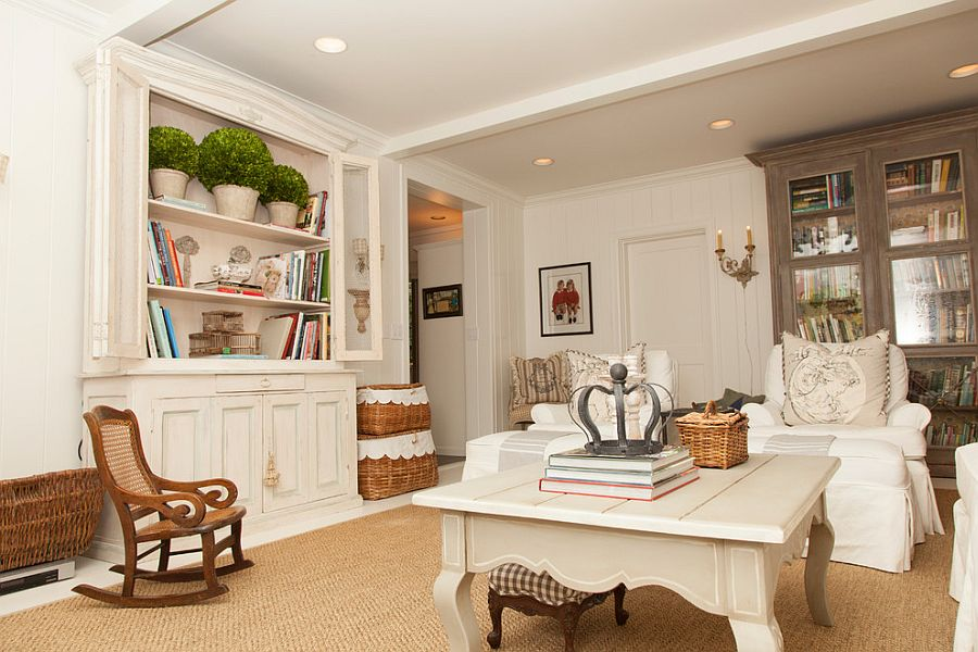 Painting the floor white can add to the appeal of the shabby chic interior [Photography: Whitney Lyons]