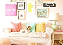 Pastel colors bring brightness to the small living room [From: Cynthia Lynn Photography]