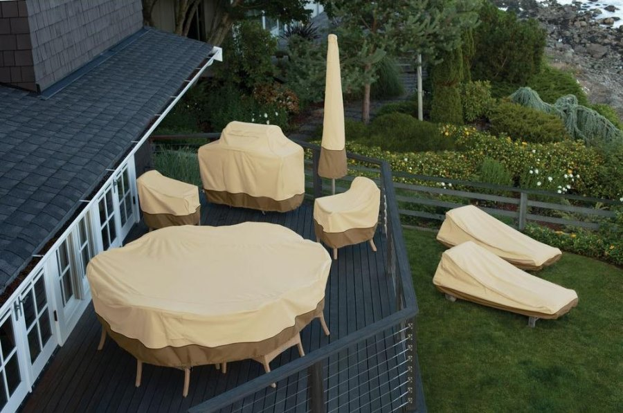 View in gallery Patio furniture covers from Home Depot. Patio Furniture Covers for Protecting Your Outdoor Space