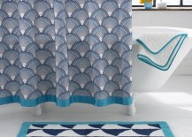 Patterned shower curtain from Jonathan Adler 217x155 Elegant High End Shower Curtains