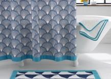 Patterned luxury shower curtain from Jonathan Adler