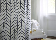Patterned luxury shower curtain from Serena & Lily