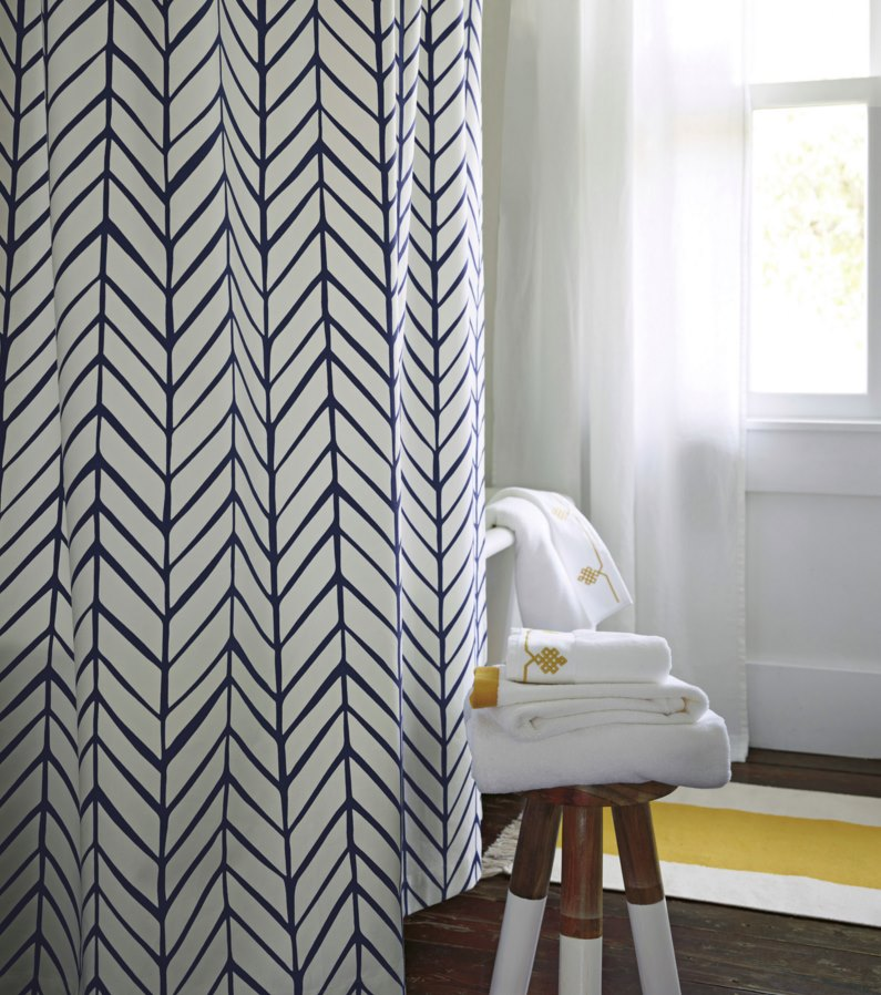 Patterned shower curtain from Serena & Lily
