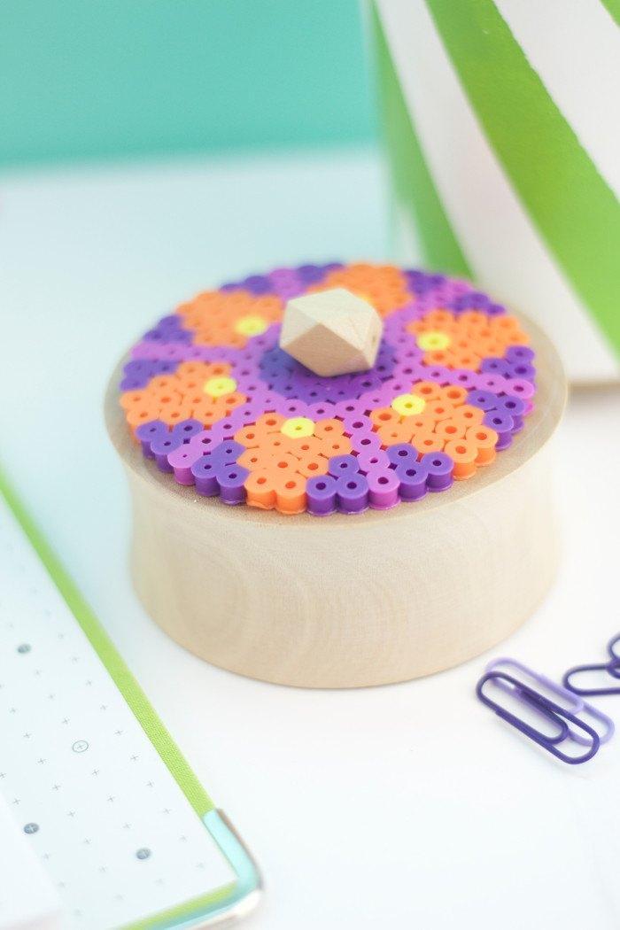 Perler bead pot from Design Sponge