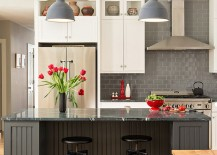 Pops-of-red-brighten-the-kitchen-in-multiple-shades-of-gray-217x155