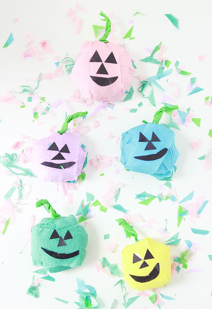 Pumpkin Halloween surprise balls from A Bubbly Life