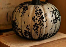 Pumpkin with black lace
