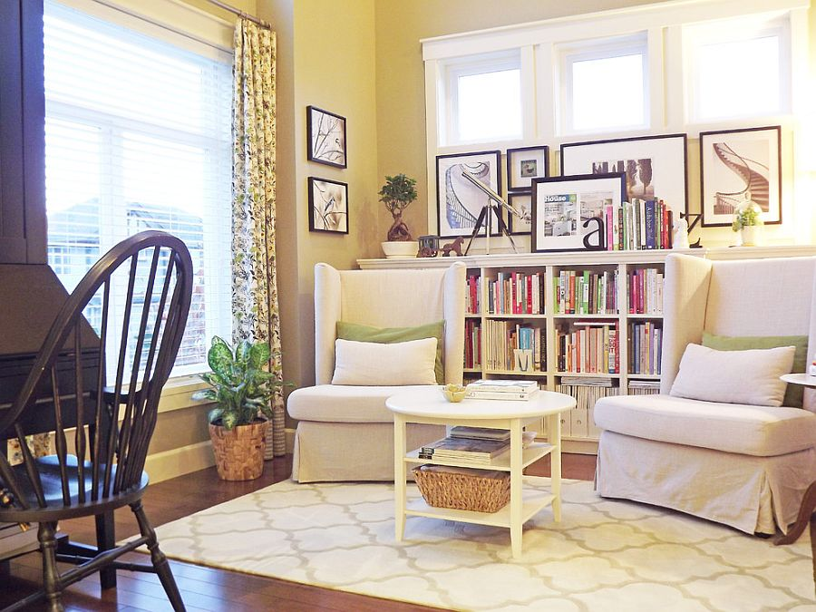 Reading nook in the living room is both cozy and classy [From: Mini Manor]