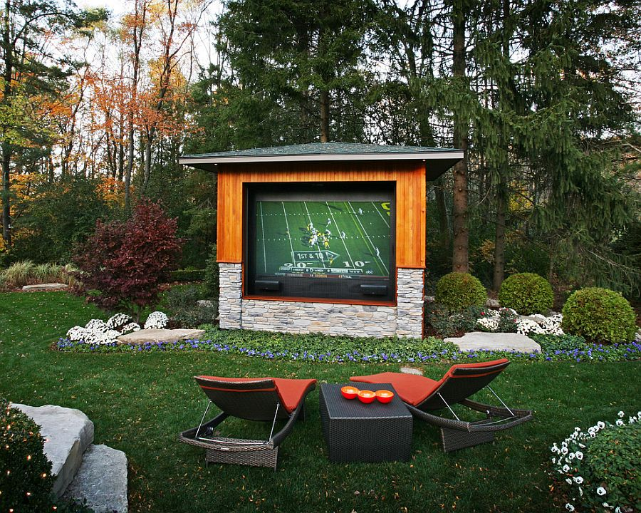 Rear projector TV with weather controlled case for the outdoor TV experience [Design: Colorworks Studio]