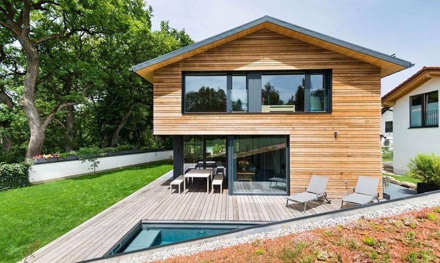 Home in Oberhaching: Modern Minimalism Encased in Warmth of Wood