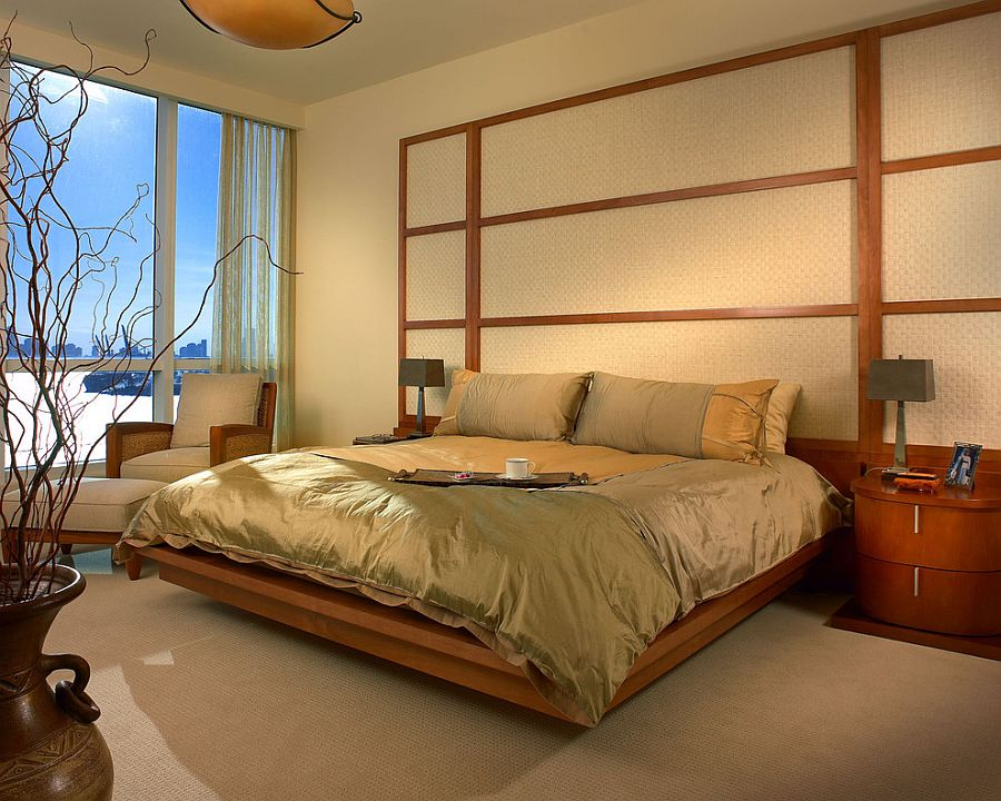 Relaxing modern bedroom with zen-inspired simplicity