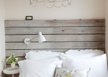Repurposed wood adds style and sensibility to the small bedroom [Design: The Cross Interior Design]