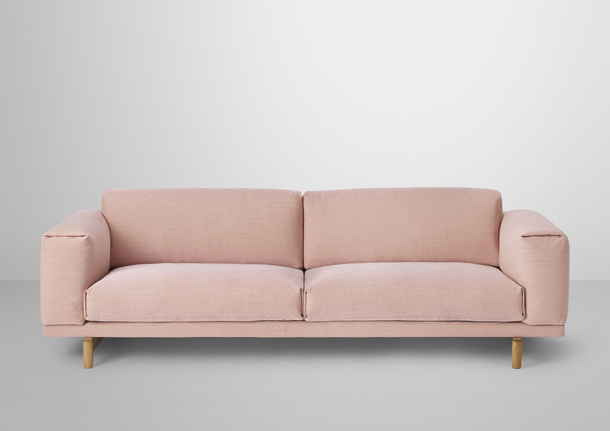 Rest 3-seater in rose