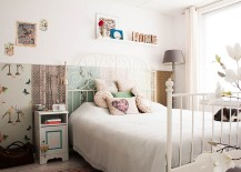 Reusing materials is an essential component of this shabby chic bedroom