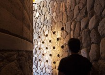 River rocks, pine wood, rammed earth and concrete shape the fabulous Pilares retreat