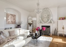 Romantic living room design with shabby chic style!