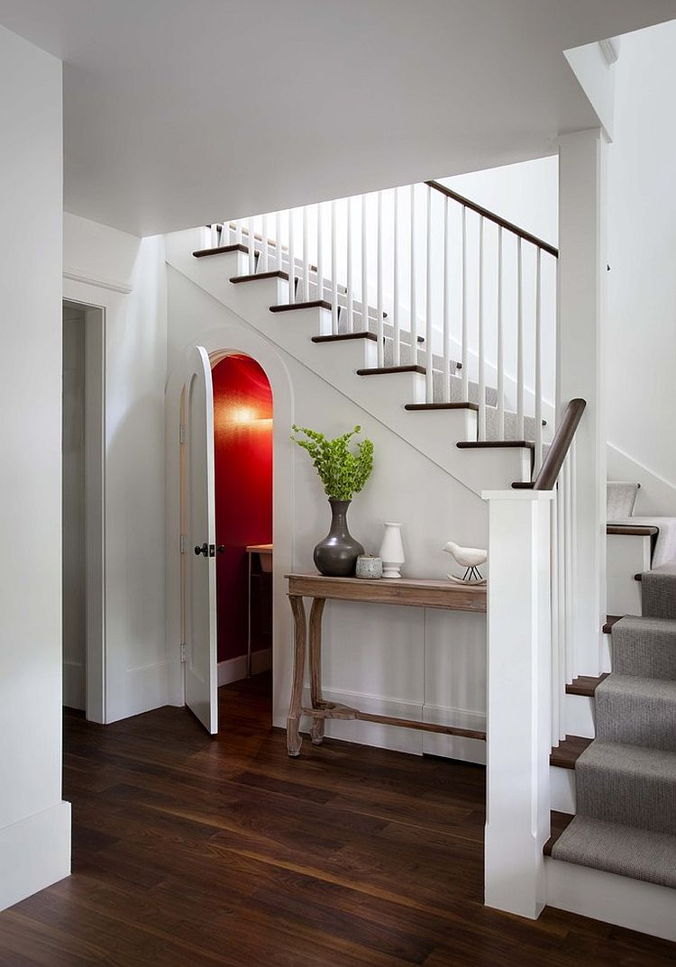 Room under the staircase might remind you of Harry Potter [Design: Tim Cuppett Architects]