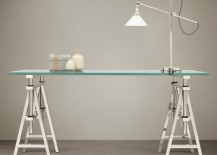 Sawhorse desk from Restoration Hardware