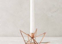Sculptural candle holder from Anthropologie