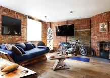 Sensational living room of London apartment
