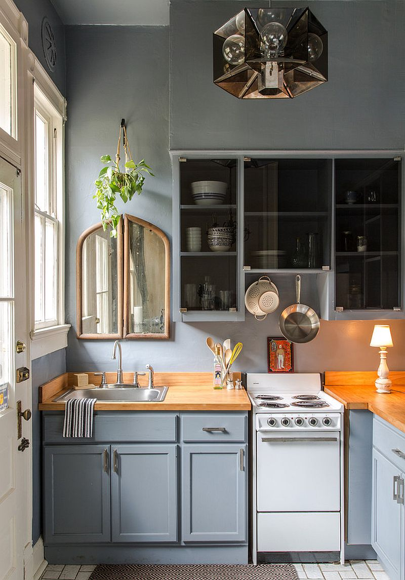 50 gorgeous gray kitchens that usher in trendy refinement shale makes a big visual impact in the small kitchen design logan killen interiors