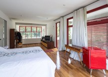 Shutters and drapes for the modern bedroom that bring privacy and temperature control