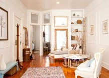 Simple and stylish shabby chic interior with wooden floor [From: Chris A Dorsey Photography]
