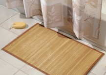 Simple bamboo bath mat 217x155 7 Bath Mat Ideas to Make Your Bathroom Feel More Like a Spa