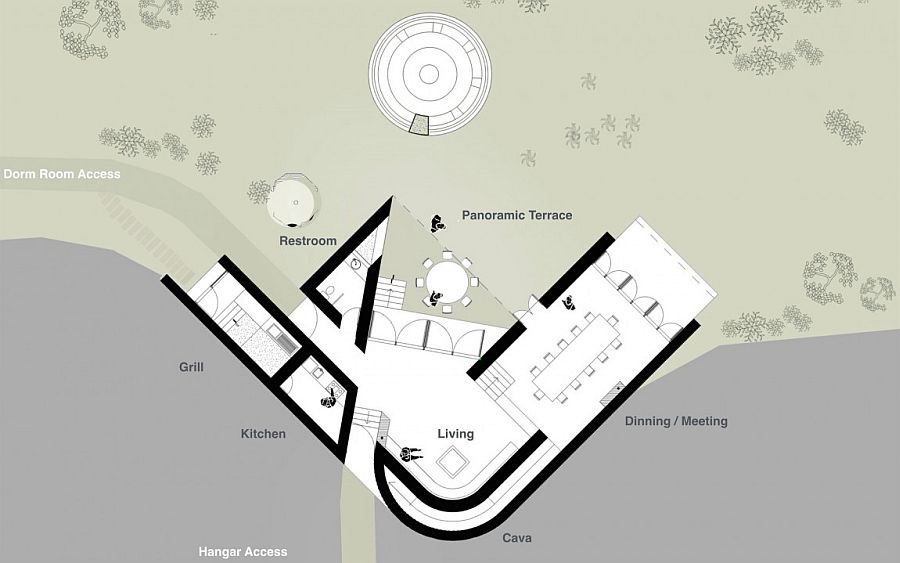 Site plan of the exclusive natural retreat in Pilares
