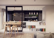 Sleek kitchen and breakfast zone with a modern minimal vibe
