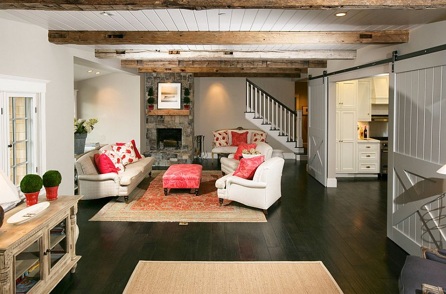 25 Ingenious Living Rooms That Showcase the Beauty of Sliding Barn ...