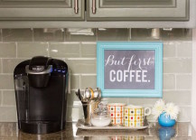 20 Charming Coffee Stations to Wake Up to Every Morning on kitchen coffee dining room ideas, kitchen breakfast nook ideas, kitchen coffee corner ideas,