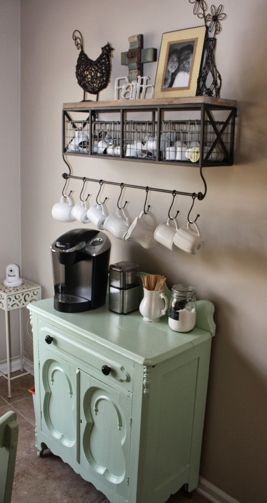 20 charming coffee stations to wake up to every morning for Coffee bar design ideas